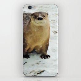 Snow otter iPhone Skin