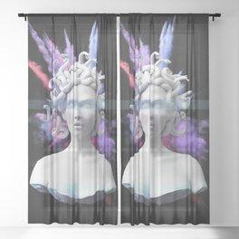 Medusa color blast  Sheer Curtain