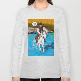 Frontier Tales: Jimmy and his horse Jack Long Sleeve T-shirt