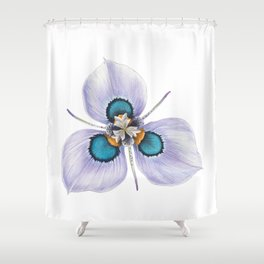 Flower Painting | MORAEA VILLAS | Watercolour | Nature Shower Curtain