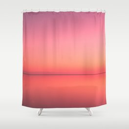 Radiant Gradient in Pink Shower Curtain