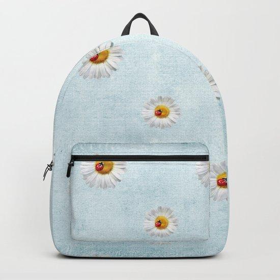 Daisies in love- lightblue pattern Backpack