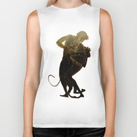 hercules Biker Tanks featuring Hercules and The Nemean Lion by taiche