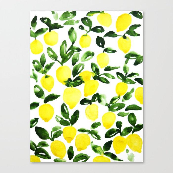 Summer Lemons Leinwanddruck