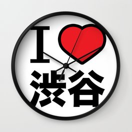 I Love shibuya Wall Clock
