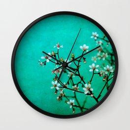 moody florets Wall Clock