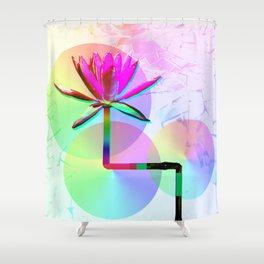 Rainbow Lotus Shower Curtain