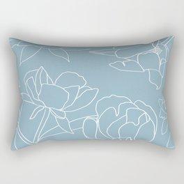 Rose on white Rectangular Pillow