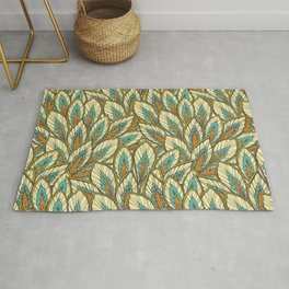 Colorful Leaves pattern Rug