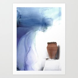 Blue Magic Pot Art Print