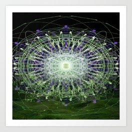 Watery Orbitals Mandala 1 Art Print