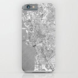 Manila Map Line iPhone Case
