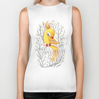 freeminds Biker Tanks featuring Magic Canary by Freeminds
