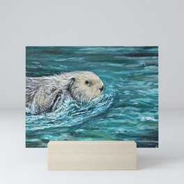 Ooh Goody Lunchtime Sea Otter Painting Mini Art Print