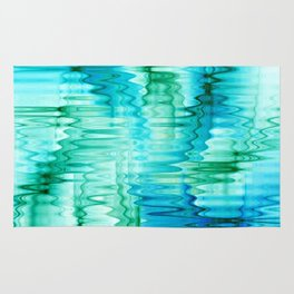 Water Ripples Abstract Rug