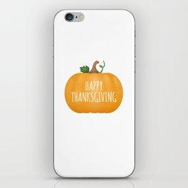 Happy Thanksgiving | Pumpkin iPhone Skin
