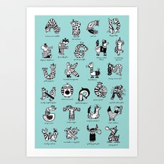 A to Z animals Art Print