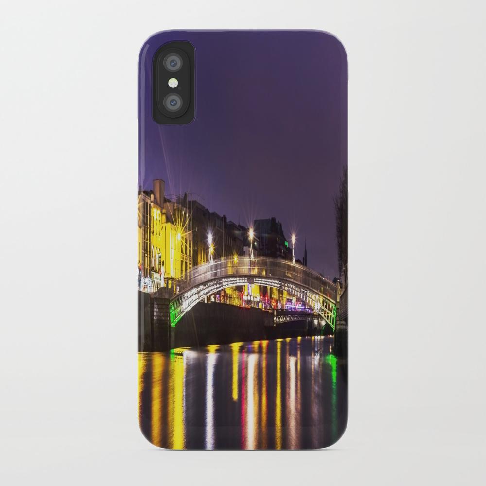Liffey Bridge Ha'penny Bridge At Night Dublin Irel… Phone Case by Alexartphotovideo PCS8634972