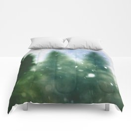 Winter Forest Flurries Comforters