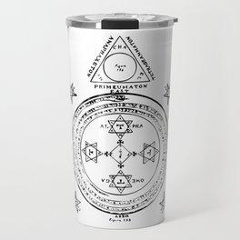 The Solomonic Magic Circle Black White Travel Mug