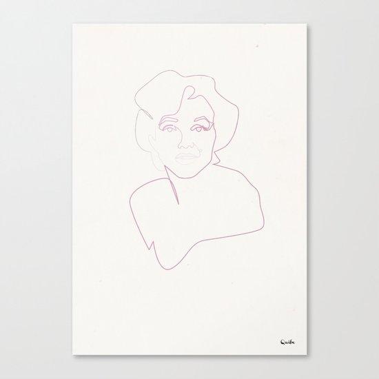 One line Marilyn Monroe Canvas Print