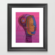 Biometric Signatureaction Formation Framed Art Print