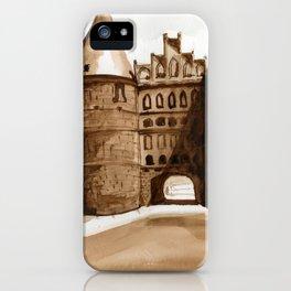 Royal German Castle in Burnt Umber iPhone Case