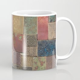 Etched Patina Patchwork Coffee Mug