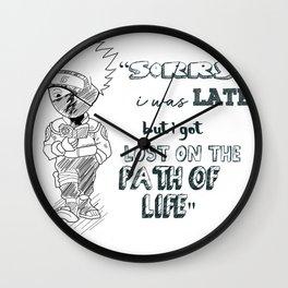 kakshi hatake quote Wall Clock
