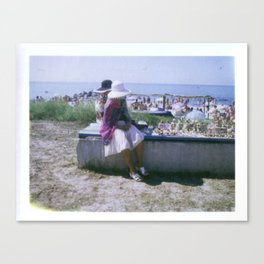 Women Selling Tchatchkes Canvas Print