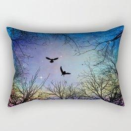 Wisdom Of The Night - Colorful Rectangular Pillow