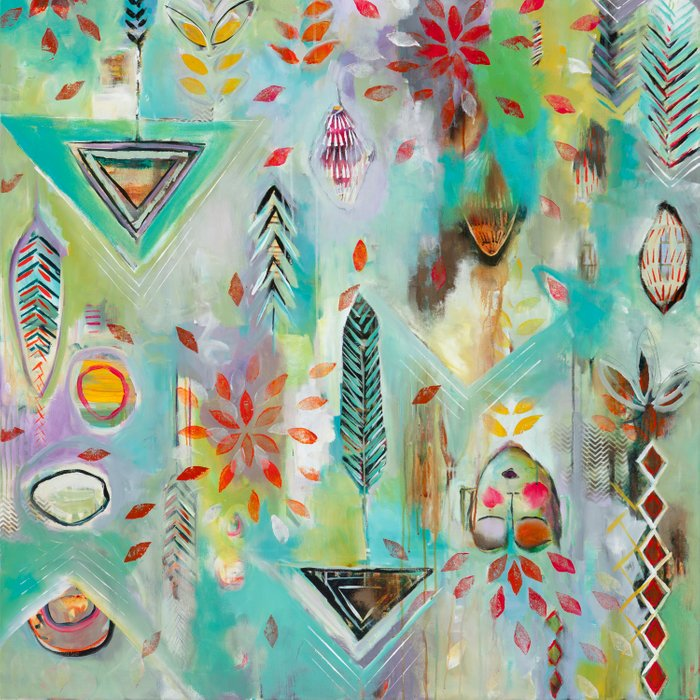 """""""Liminal Rights"""" Original Painting by Flora Bowley Comforters"""