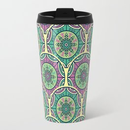 Mosaico Purple Teal Travel Mug
