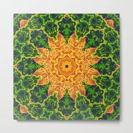 Mystic Desert Mandala Metal Print