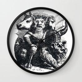 Multiheaded demon Wall Clock