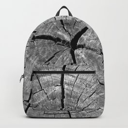 Weathered Old Wood Texture Backpack