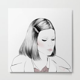 Gwyneth Paltrow (as Margot Tenenbaum) - Melancholia Serie Metal Print