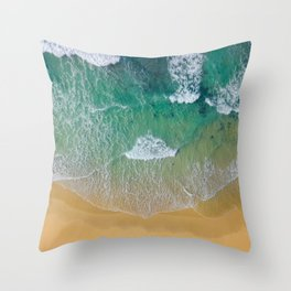 Ocean from the sky Throw Pillow