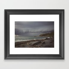 Stormy Coast Framed Art Print