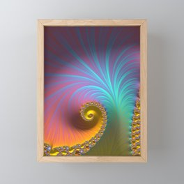 Kapow! - Fractal Art  Framed Mini Art Print