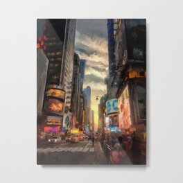 New York City Lights Metal Print