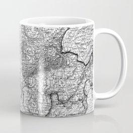 Vintage Map of Switzerland (1856) BW Coffee Mug