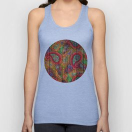 Kashmir on Wood 04 Unisex Tank Top
