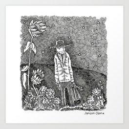 Vincent Van Vogh Portrait Art Print