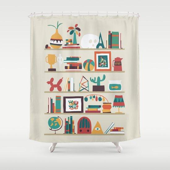 The shelf Shower Curtain