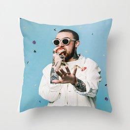 Mac Miller Rapper Hip Hop Music Singer Throw Pillow
