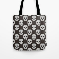 Knitted skull pattern Tote Bag
