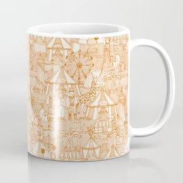 retro circus orange ivory Coffee Mug