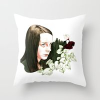 abigail larson Throw Pillows featuring Hannibal - Abigail by Caeruls