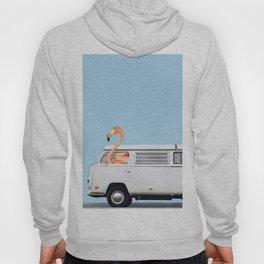 The Flamingo & His Adventure Van Hoody